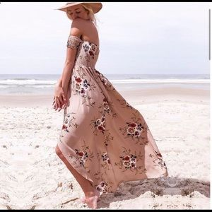 Dresses - Summer BoHo off shoulder beach asymmetrical dress
